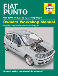 fiat punto petrol oct 99 07 haynes repair manual haynes