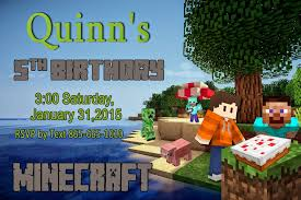 minecraft birthday invitations of a vertically challenged minecraft birthday party time