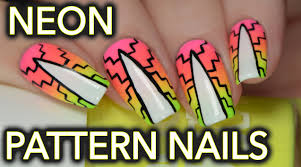 neon patterned gradient nail art for summer youtube