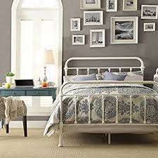 Antique White Metal Bed Frame White Antique Iron Metal Bed Frame Vintage Bedroom