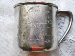 silver plated baby gifts wm rogers silver plated baby cup with bo peep etching