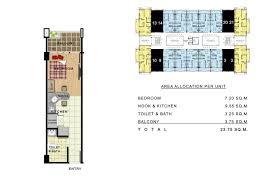 floor plan studio type linmarr towers condominium complex a prime real estate in davao