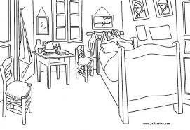 la chambre de vincent gogh coloriages la chambre de gogh à arles fr hellokids com