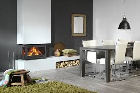 wood burning fireplace insert 3 sided instyle triple by dik