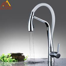 kitchen faucets pull quyanre kitchen faucet brass chrome rubber kitchen sink faucet