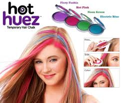 temporary hair color for halloween amazon com huez temporary hair chalk set of 4 colors beauty