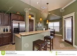 Green Kitchen Design Black And Silver Kitchen Wall Cabinet Combined With Green Tile