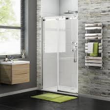 Easy Clean Shower Doors 1100mm 8mm Luxe Frameless Easyclean Sliding Shower Door