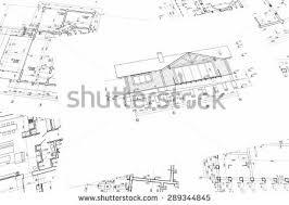 housing blueprints house plan blueprints new housing development stock photo 289344845
