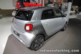 2018 smart forfour rear three quarters right at iaa 2017 indian