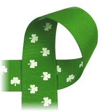 shamrock ribbon shamrock ribbon st s day green emerald