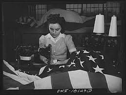 Colonial Flag Company File Sewing The Edge Of An American Flag At The Annin Flag