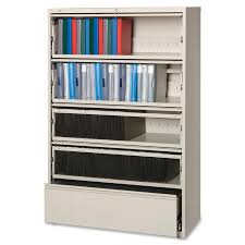 Lateral Legal File Cabinet by Lorell Receding Lateral File With Roll Out Shelves Mac Papers Inc