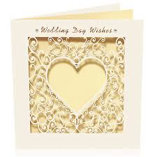 Wedding Day Wishes For Card Laser Cut Card Delicate Wedding Day Wishes By Pink Pineapple Home