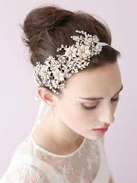 bridal headwear aliexpress buy pearl gold wedding headband hair