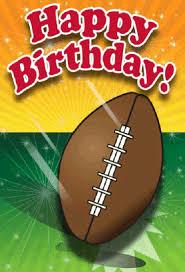 football birthday card png