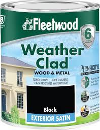 Black Exterior Gloss Paint - fleetwood exterior gloss black paint 2 5 litre metal paint