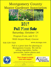 list of texas native plants montgomery county fall plant sale texas master gardener association