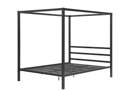 Modern Canopy Bed Frame Dhp Modern Metal Framed Industrial Canopy Bed Frame Gray