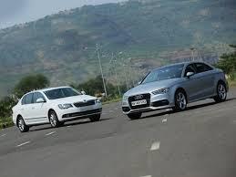 compare audi a3 and a4 audi a3 vs skoda superb petrol comparison review zigwheels