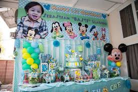 baby birthday ideas baby mickey mouse birthday party ideas photo 6 of 40 catch my