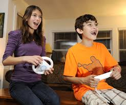 children play wii at home dioscg