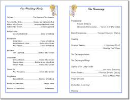 wedding church programs wedding program templates from thinkwedding s print your own