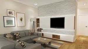steinwand wohnzimmer montage 2 fernseher an wand montieren die eleganteste variante