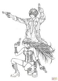 tsukune aono and moka akashiya from manga rosario to vampire