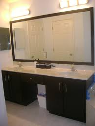 Framing A Large Bathroom Mirror Show Me Your Black Cabinets Black Cabinet Organizations And