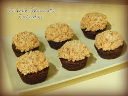 german chocolate cupcakes cut the wheat