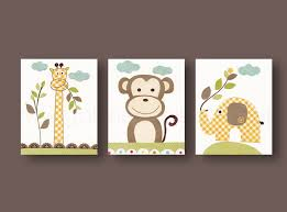Elephant Bedroom Decor Baby Nursery Awesome Frame Wall Decoration With Cute Monkey And