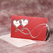 marriage invitation cards online wedding card design scarlet rectangle envelope white paper best