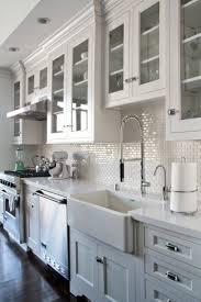 mini subway tile kitchen backsplash home decoration ideas