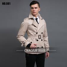chaojue new men s trench coat quality beige trenchcoat