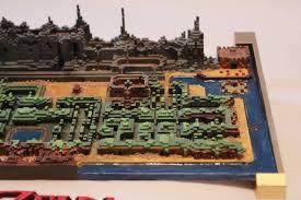 legend of zelda map with cheats legend of zelda fan 3d printed the original game s overworld map