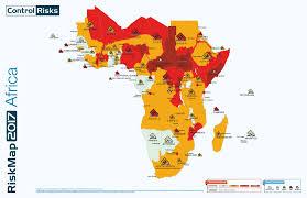 World Map Regions by Maps Riskmap 2017