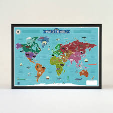 Map Poster My First World Map Poster By Marcus Walters Notonthehighstreet Com