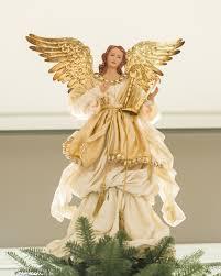 gold angel tree topper balsam hill white christmas pinterest