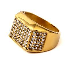 aliexpress buy nyuk gold rings bling gem gold ring hip hop picture more detailed picture about nyuk steel