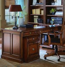 Hooker Furniture Computer Armoire brookhaven peninsula desk in cherry by hooker furniture home