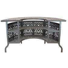 Solid Cast Aluminum Patio Furniture by Patioland Ld777w 7 27 Elizabeth Outdoor Patio Set 5 Pc Party Bar