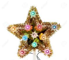 vintage christmas tree star decoration from the 1960 u0027s stock