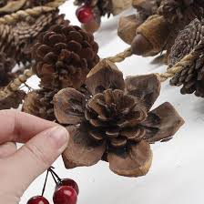 pinecone and berry garland garlands