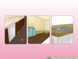 How To Clean The Kitchen by 3 Ways To Clean The Kitchen Before Bed Wikihow