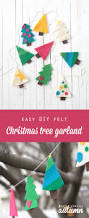 easy diy felt christmas tree garland simple holiday decor