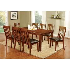 steve silver zappa 9 piece dining table set medium cherry