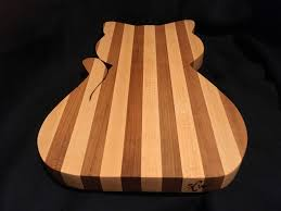 custom cat shaped wood cutting board chopping block handmade
