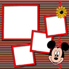 Scrapbook Inserts Mickey Mouse Digital Scrapbook Kit Mickey Mouse Scrapbook And Mice