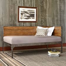 bed group emmett metal corner daybed with reclaimed wood design